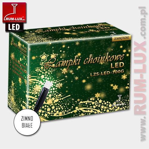 Lampki zewnętrzne sople LZS-LED100G [białe]